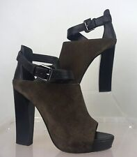 ALL SAINTS Size UK 7/ 40 Brown Suede Peep Toe Killer Heels 5""