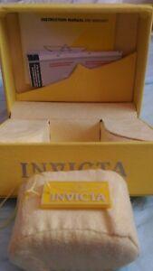 INVICTA'S NEW Yellow Men's empty watch box 5.6in x 4.6in x 5.1in