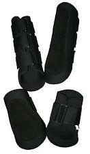 Large Black Neoprene Splint Tendon Horse Boots 1x Front 1x Back Pair Splint Boot