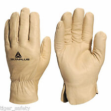 x5 Pairs Delta Plus Venitex FB149 Yellow High Quality Full Grain Leather Gloves