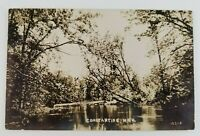 Postcard Real Photo Fawn River Constantine Michigan 1910