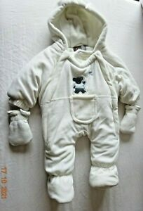 Baby Car Seat, Stroller Hooded Snowsuit All in One Winter Mittens 0-3 months
