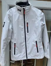 Helly Hansen Ladies Fleece lined Waterproof Crew Jacket White  Size M
