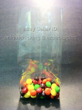 100 Pcs 5x4x15 Clear Side Gusseted Poly Cello Bags Good for Candy Cookie Bakery