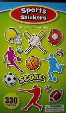 NEW 330 pc SPORTS STICKERS Baseball Soccer Football Jersey BASE 4 Sticker Book