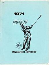 1971 SOUTHEASTERN CONFERENCE GOLF GUIDE - GOLFING
