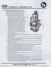 1974-1982 Bing Type 54-2 & 84 carburetor parts list and tuning 7 pages of COPIES
