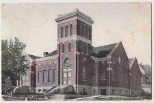 1910 Herington Kansas Kans Ks Postcard First Me Church