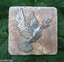 "Plaster cement Dove bird plastic travertine tile mould mold 6"" x 6"" x 1/3"""