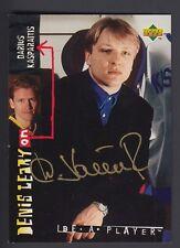 Darius Kasparaitis 1995 UD Be A Player On Card Autograph #142