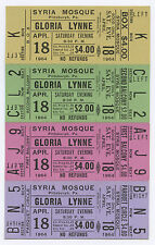 Gloria Lynne Art Blakey Slappy White 1964 Unused Concert Ticket - Set of 4