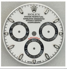 ROLEX DAYTONA DIAL IN WHITE W/ SUB-DIALS AND SILVER TRACKING FIT ALL MODELS