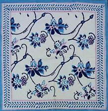 Hand Block Print Royal Floral 100% Cotton Napkins Table Linen Beautiful