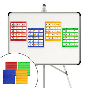 Classroom Magnetic Pocket Chart Hanging Students Daily Schedule Pocket Chart