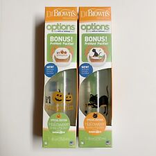 Dr Brown's Natural Flow Halloween Bottle + Pacifier Lot Of 2 Babies R Us 8oz