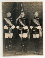 Hartpappfoto Studentika Studentern in Uniform mit Korbschläger Mensur Erlangen