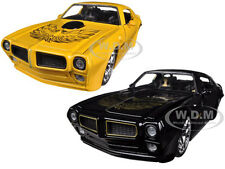 1972 PONTIAC FIREBIRD TRANS AM BLACK & YELLOW SET OF 2 CARS 1/24 JADA 96798-SET
