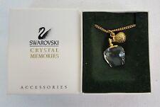 Swarovski Crystal Memories PERFUME ATOMIZER Pendant on Gold-Tone Chain Necklace