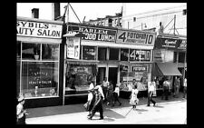 1939 Harlem New York City Shops PHOTO Vintage Street Scene Stores Cafe Salon NYC