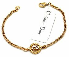 Christian Dior Symbol Bracelet Gold Plated CD Monogram 6 grams