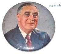 1936 Franklin Roosevelt FDR campaign pin pinback button political presidential