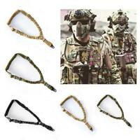 Tactical Hunting Single Point Adjustable Bungee Rifle Gun Sling System Strap W