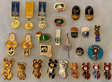 Lot of 27 1980 MOSCOW OLYMPIC GAMES Pins Pinbacks ALL DIFFERENT