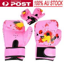 Children Kids Kick Boxing Training Gloves Sparring Punch Fight Mitt AU Shiping