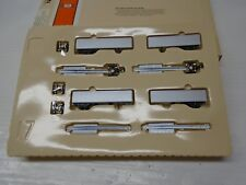 "Con-Cor N Scale ""N""Fuel Foiler Cars Set w/ PiggyBack Trailer ""Undecorated"""