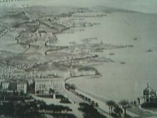postcard unused old undated trace de l'excursion en auto par la grande corniche