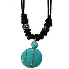 Turquoise Pendant Cord Chain Necklace Choker Womens Ladies Girls Kids Jewellery