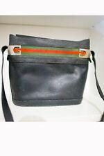 [discrete condizioni] borsa  nera gucci in pelle usato vintage