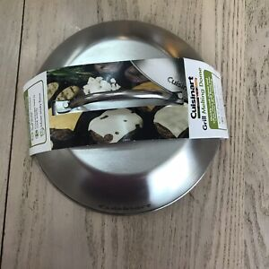 Cuisinart Cheese Melting Dome Stainless Steel Griddle Heat Retention New 9 Inch