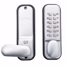 12 Code Keypad Digital Keyless Security Passcode Electronic Mechanical Door Lock