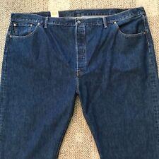 Big Men's Levi's 501 Original Fit Blue Jeans Button Fly Straight Leg 54 X 32