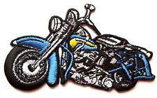 ECUSSON patch brodé thermocollant Moto, Biker, style Harley Davidson - bleu