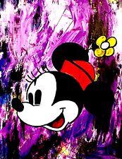 Original DAV Signed W/COA*** Minnie Mouse Peter Max Dillon Boy Art