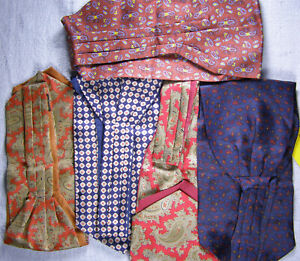 Group (5) Vintage Silk Ascots - Brooks Brothers & English
