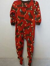 BOYS 24 MONTHS CARTER'S RED DOGS FOOTED FLEECE SLEEPER PAJAMAS NEW NWT 78*
