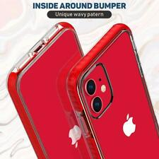 iPhone 11 Case Clear Thin Slim Crystal Transparent Shockproof Bumper Women Red