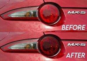 Light Smoke Brake Tail Light Overlay for 2015+ Miata MX5