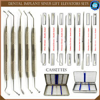 Dental Sinus Lift Instruments Implant Surgery Periosteal Elevators-Brushing Kit
