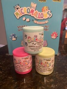 """NEW 3x Sealed Squishmallows Mystery Squad Micro Micromallows 2.5"""" Inch Capsules"""