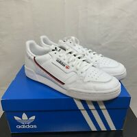 Adidas Mens Originals Continental 80 Shoes White/Scarlet/Navy G27706 Size 11.5