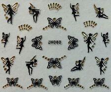 Nail Art 3D Decal Stickers Butterfly Fairy Butterflies Fairies JH060
