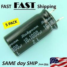 5 PACK ----- 1000uf 16v Capacitor ------ FAST Shipping