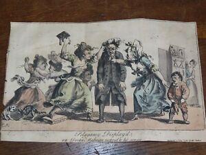 1780 POLYGAMY DISPLAY'D FROM DR MADANS THELYPHTHORA FEMALE RUIN Georgian cartoon