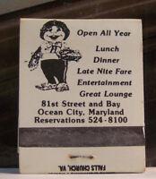 Rare Vintage Matchbook Q1 Ocean City Maryland The Hobbit Restaurant LOTR Tolkien