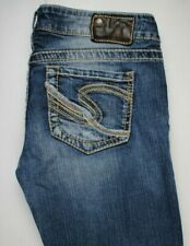 Silver Berkley Straight Destroyed Womens Jeans Sz 29 x 32
