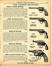 1956 Print Ad Iver Johnson 55 Target 855 Armsworth 844 Supershot 55-S Revolver